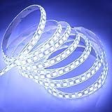 JOYLIT DC12V LED Strip light 600 Units SMD5054 LEDs Flexible Cool white 6000-6500K LED Tape Lights Waterproof LED Light Pack of 16.4ft/5m