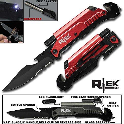 9-Tactical-Spring-Assisted-Black-Blue-Gold-Gray-Green-Red-Survival-7-in-1-Rescue-Pocket-Knife-LED-Light-Fire-Starter-Blade-Sharpener-Bottle-Opener-Glass-Breaker-Belt-Cutter
