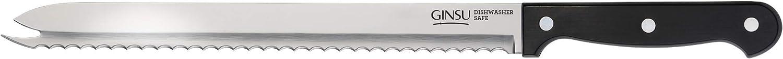 """Ginsu KIS-KB-DS-001-1 Kiso Dishwasher Safe Original Slicer, 5""""W x 14.25""""H x 2.5""""D, Black"""