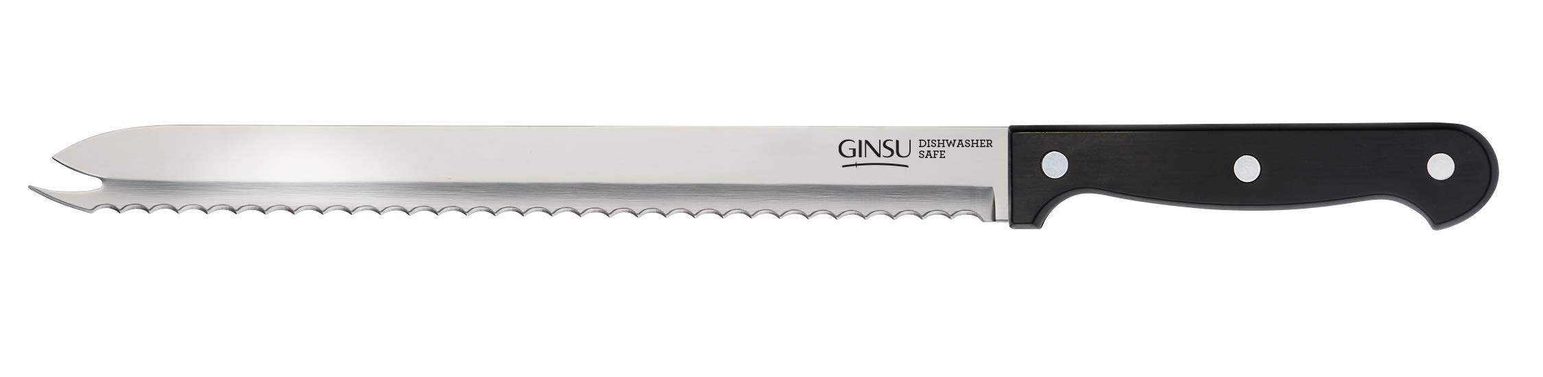 Ginsu KIS-KB-DS-001-1 Kiso Dishwasher Safe Original Slicer, 5''W x 14.25''H x 2.5''D, Black by Ginsu
