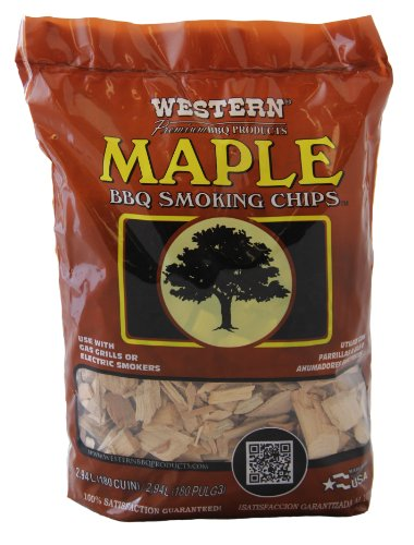 WW Wood inc WESTERN 28067 Maple BBQ Smoking Chips - Maple Wood Chunks