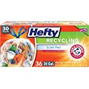 Hefty Recycling Trash Bags (Clear, Drawstring, 30 Gallon, 36 Count)