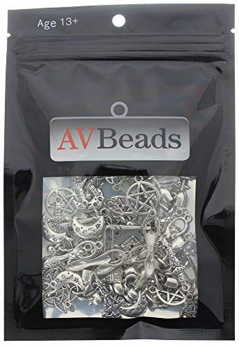 AVBeads 100 Piece Mixed Pagan Wiccan Charms Sets