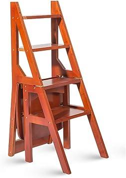 LXF Escaleras plegables Asiento De Banco De Silla De Escalera Multifuncional Utilidad, Escalera Plegable De Taburete De 4 Peldaños for Adultos, Banco De Zapatos De Cambio Soporte De Flores for El Hoga: