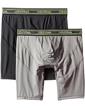 Men's 2 Pack Work Performance Long Leg Boxer Brief