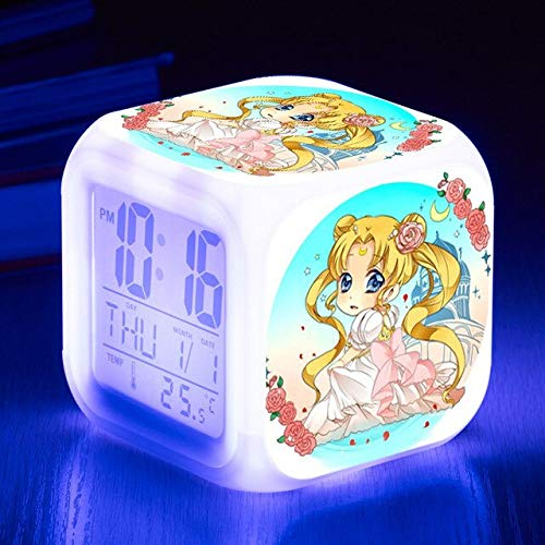 VIZIKS Led 7 Colors Digital Alarm Clock Kids Bedroom Wake Up Clocks Action Figures -Multicolor Complete Series Merchandise