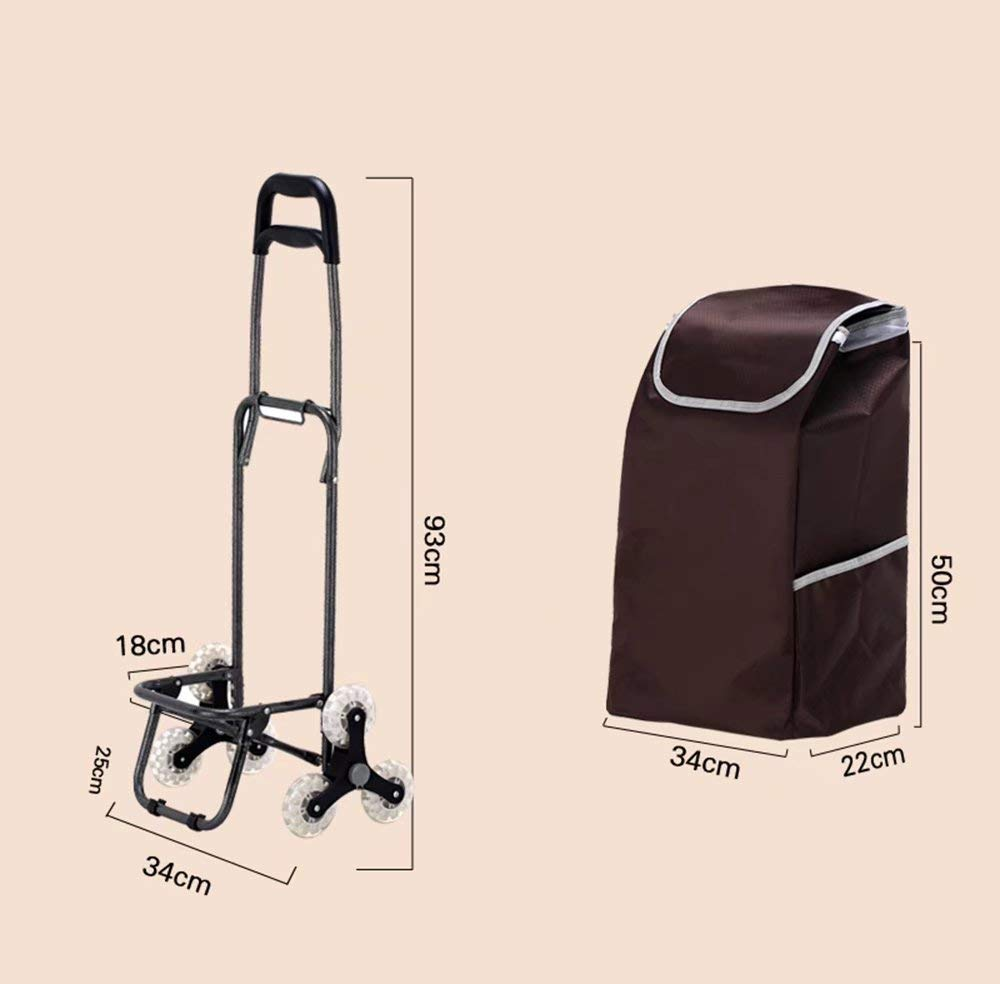 Zehaer Portable Trolley, Climb The Shopping cart, Stroller, Trolley cart, Folding/Home cart (Color:#03) (Color : #03) by Zehaer (Image #2)