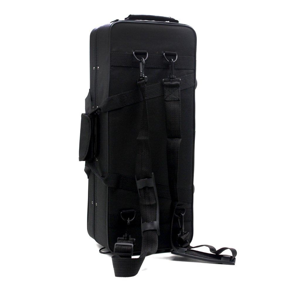 Andoer/® 600D Impermeabile Gig Bag Box Zaino Panno di Oxford per Tromba con Tracolla Regolabile Doppia Tasca Schiuma Cotone Imbottito
