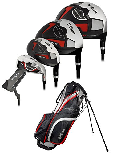 Wilson Men's Profile XLS Complete Package Golf Set, Right Hand, Red, Tall