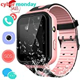Kids Waterproof Smartwatch with GPS Tracker - Boys & Girls IP67 Waterproof Smart Watch Phone with Camera Games Sports Watches Back to School Supplies Grade Student Gifts (02 S7 Pink)