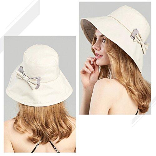Visera Hembra Sunscreen Verano Sol Plegable Zhaoshunli Playa Beige Viajes color Sombrero Salvaje Beige Pescador 8qdEw5H