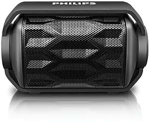 Philips BT2200B/00 - Altavoz portátil con Bluetooth (micrófono, batería recargable, resistente al agua), color negro