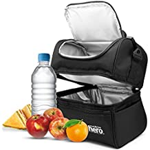 Lunch Bags Box for Women & Men – Thermal Lunchbox as Insulated Cooler Meal Prep Bag for Both Adult & Kids Perfect for Work, School, Car Travelling, Picnic or Camping