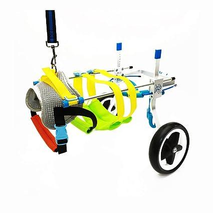 La silla de ruedas para mascotas, las patas traseras, la longitud, el ancho