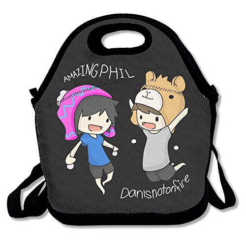 JUCHen Dan And Phil Lunch Bag Tote Handbag Lunch Boxes (Lunch Bag Big Phil)