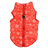 Howstar Pet Camouflage Cold Weather Coat, Small Dog Vest Harness Puppy Winter Padded Outfit Warm Garment (XXS, Red) Larger Image
