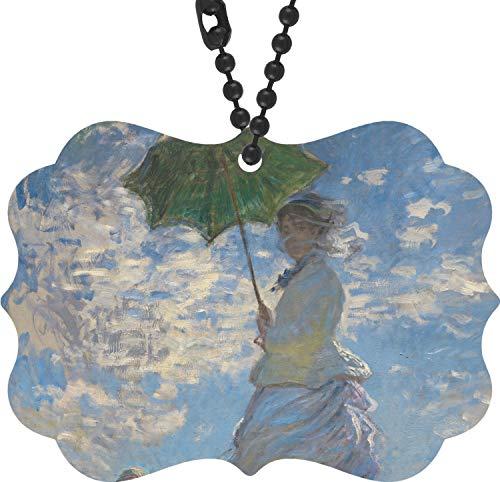 (YouCustomizeIt Promenade Woman by Claude Monet Rear View Mirror Charm )