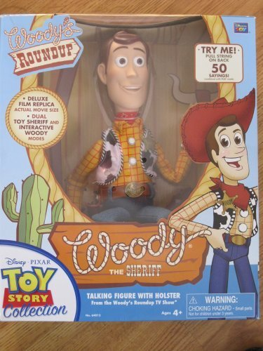 Toy Story 3 Deluxe Woody the Sheriff Actual Movie Size Talking Doll by Thinkway