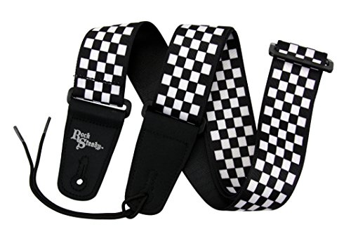 (Rock Steady RSPCB01 Checkerboard Poly Guitar Strap)
