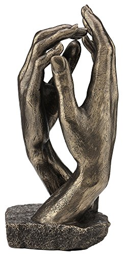 Brass Bronze Statue - Rodin's The Cathedral Hand Sculpture - Perfect Wedding Anniversary Gift