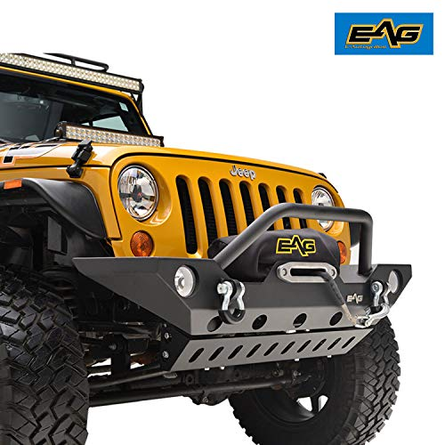 EAG 07-18 Jeep Wrangler JK Front Bumper With Armor Skid Plate