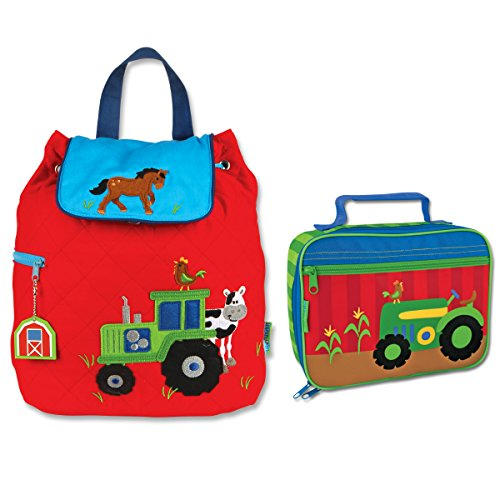 Quilted Tractor Backpack and Lunch Box for Kids ()