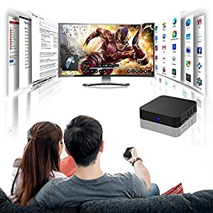 Android 4.4.2 Quad Core Smart TV Box Mini PC Streaming Media Player- Ultra HD 4K - Internet 1080p HD WiFi Streaming Video Player-Black