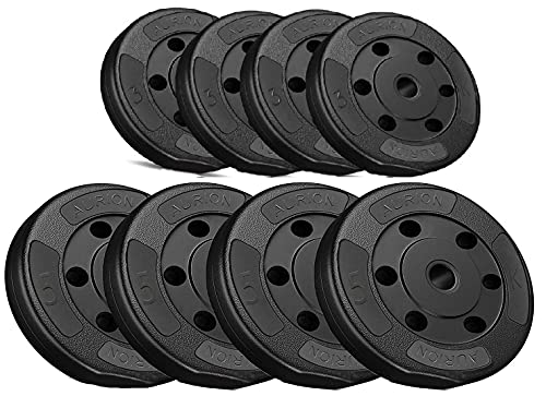 AURION 32 KG Vinyl Plates for Dumbbells. Best for Home Gym,Fitness