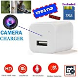 [Updated] White USB Wall Charger Hidden Camera | 32GB Included | 1080P HD | Motion Activated & Loop Recording Mode | For Home Security, Pet Camera, Nanny Spy Cameras With Audio | by Beauty's7