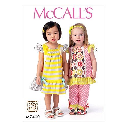 (MCCALLS M7400 GIRLS TODDLERS' TOP, DRESS & PANTS SEWING PATTERN SEWING PATTERN (SIZE 1/2-4))
