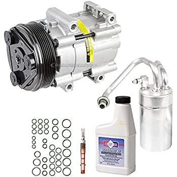New AC Compressor & Clutch With Complete A/C Repair Kit For Ford Mustang V6 - BuyAutoParts 60-80218RK New
