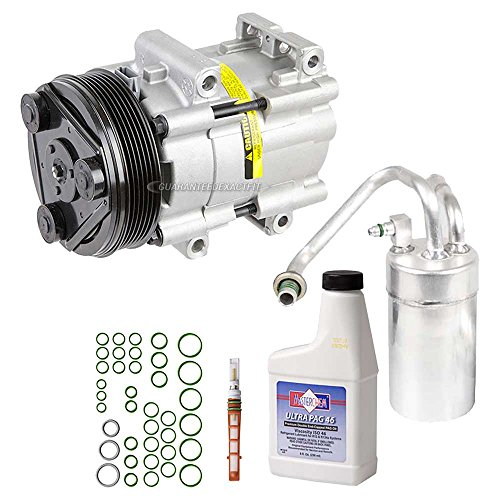 AC Compressor w/A/C Repair Kit For Ford Mustang V6 1996 1997 1998 1999 2000 2001 2002 2003 2004 - BuyAutoParts 60-80218RK New