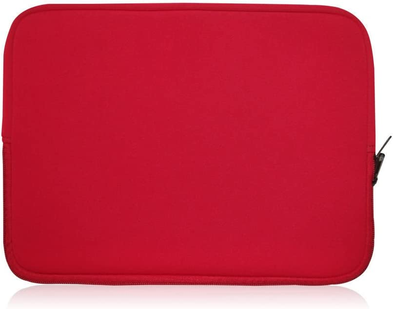Sweet Tech Red Neoprene Laptop Case Cover Sleeve Suitable for Samsung XE500 11.6 Touchscreen Convertible Laptop