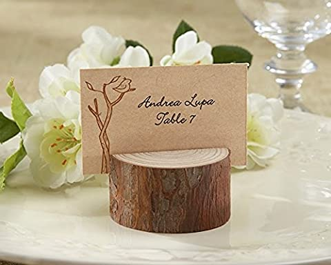 96 Rustic Real-Wood Place Card Holder - Tree Place Card
