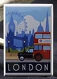 London Travel Poster Refrigerator Magnet