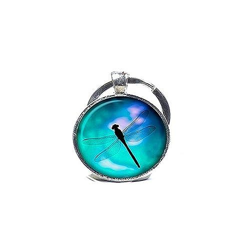 Llavero, diseño de libélulas Believe libélula regalo: Amazon ...
