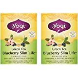 Yogi Herbal Tea Green Slim Life Blueberry -- 16 Tea Bags Each / Pack of 2