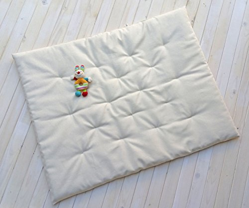 Home of Wool / Wool Mat Only or Wool Mat + Protector / Chemical-free / Cotton or Lambswool Cover / Non - Toxic / Natural Color / Custom Sizes & Shapes & Fabrics Available / Made - to - Order by Home Of Wool
