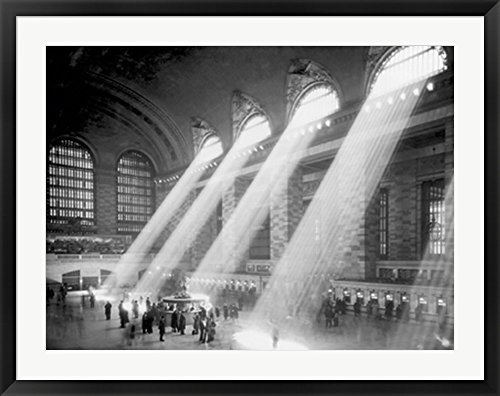 Grand Central Station Framed Art Print Wall Picture, Black Frame, 39 x 31 inches