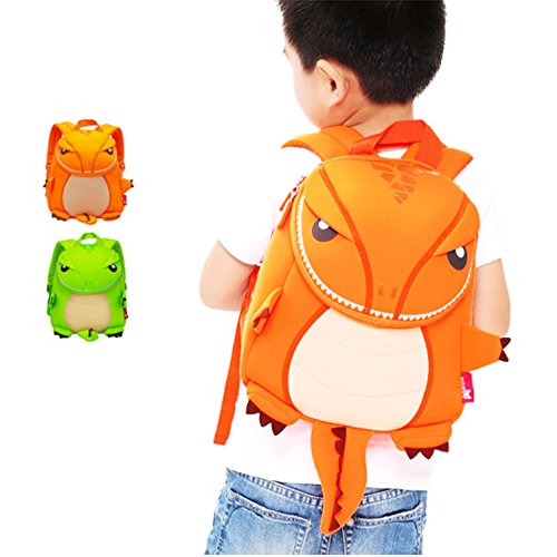 OFUN 3D T-Rex Dinosaur Toddler Backpack for Boys Girls, Gift For - Trip A Camping Pack What On To