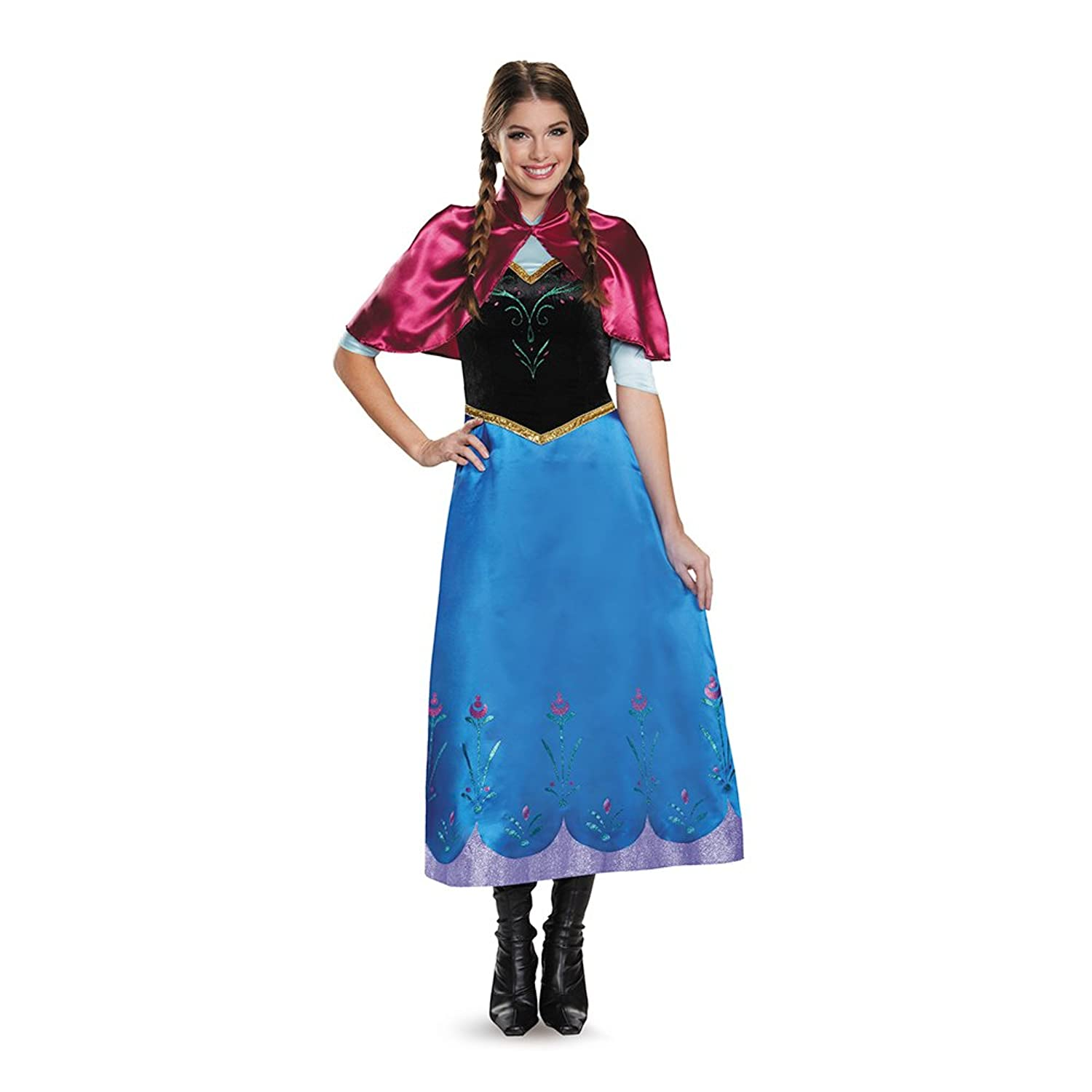 Amazon.com Disguise Womenu0027s Frozen Anna Traveling Deluxe Costume Clothing  sc 1 st  Amazon.com & Amazon.com: Disguise Womenu0027s Frozen Anna Traveling Deluxe Costume ...