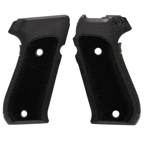 Hogue 20179 Sig P220 American Grips, Checkered G-10 Solid black