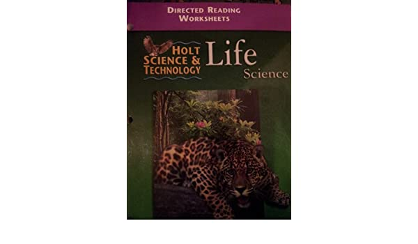 Amazon.com: Directed Reading Worksheets: Holt Science & Technology ...