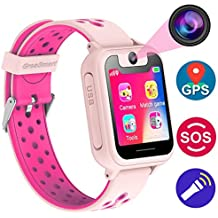 Kids Smartwatch with GPS Tracker Phone Remote Monitor Camera Touch Screen One Game Anti Lost Alarm Clock App Control by Parents for Children Boys Girls Christmas Holiday Birthday Gifts