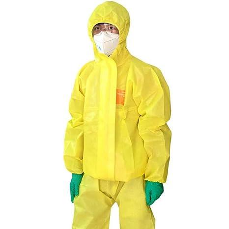 KLGU Ropa de protección química con Capucha, ácido y álcali ...