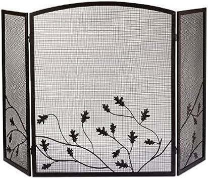 Panacea Productos 15914 3-Panel Hojas de Roble Chimenea Pantalla: Amazon.es: Hogar