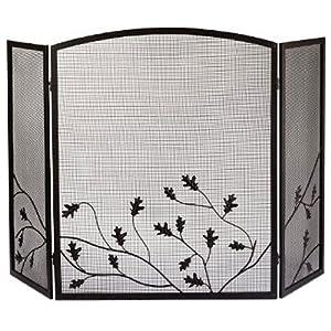 Amazon.com: Panacea Products 15914 3-Panel Oak Leaf Fireplace ...