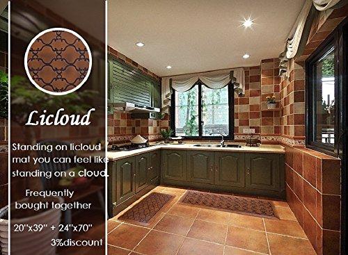 Licloud Anti-fatigue Mat Non-toxic Kitchen Floor Mat Comfort Mat Desk Mat (24x70x3/4-Inch, Antique Light) by Licloud (Image #2)