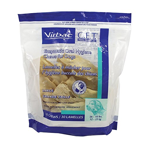Virbac C.E.T Enzymatic Oral Hygiene Large Dog Chews, 90-Chew, by Virbac (Virbac Enzymatic Oral Hygiene Chews For Dogs)