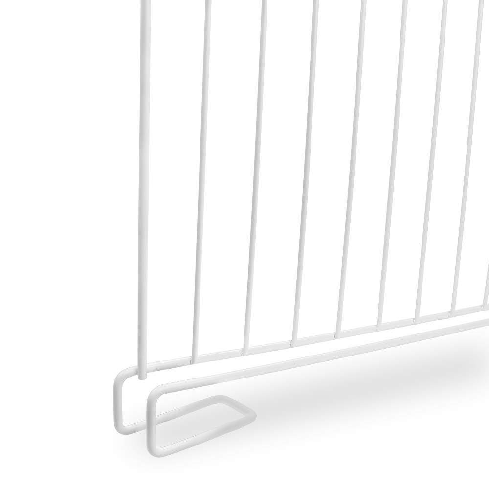 Shelf Divider for Closet,Set of 8 Wood Shelf Organizer,Metal Wire Shelves Separator for Clothes,Shelf Dividers for Wooden Shelves,Wardrobe,Kitchen Cabinets,Bookshelf Storage and Organization